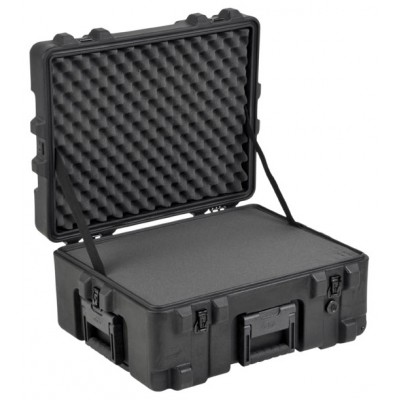 SKB 3R2217-10B-CW - UNIVERSAL WATERPROOF ROTO-MOLDED CASE 558 X 431 X 266 (191+76) MM WITH FOAM & WHEE