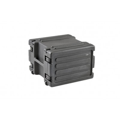 SKB 1SKB-R8W - 8U SPACE RACK WITH IN-LINE WHEELS, TSA LATCHES, AND HANDLE