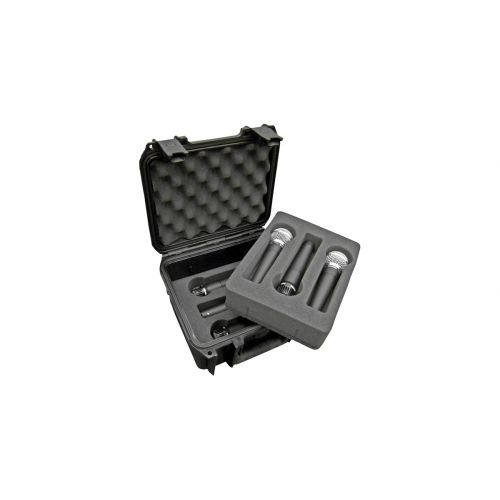 SKB 3I-0907-MC6 SKB INJECTION MOLDED WATERPROOF CASE WITH FOAM FOR (6) MICS