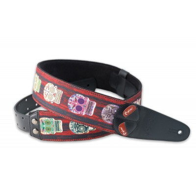 RIGHTON GUITAR STRAP SKULLS UNIC