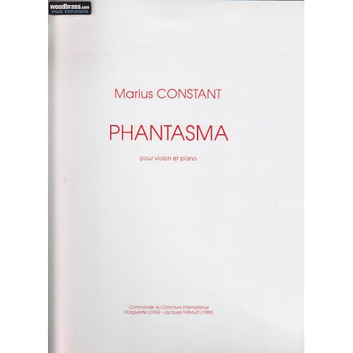 SALABERT CONSTANT - PHANTASMA - VIOLON ET PIANO