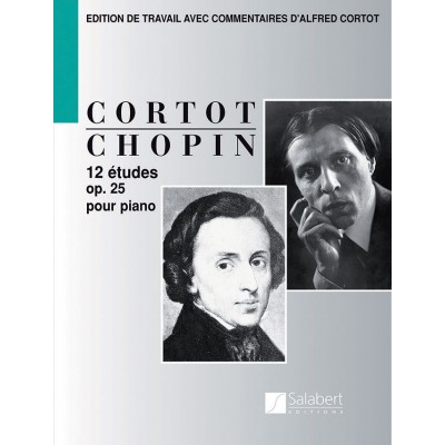 SALABERT CHOPIN F. - 12 ETUDES OP 25 - PIANO