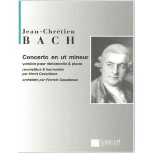 SALABERT BACH J.C. - CONCERTO EN UT MINEUR - VIOLONCELLE ET PIANO