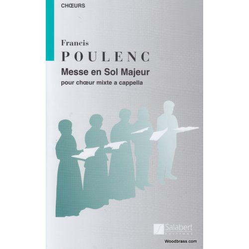 SALABERT POULENC F. - MESSE EN SOL MAJEUR - CHOEUR MIXTE