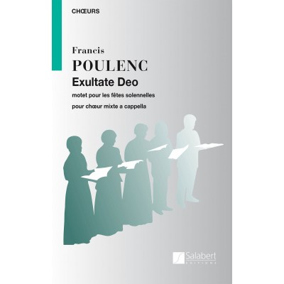 SALABERT POULENC F. - EXULTATE DEO - CHOEUR