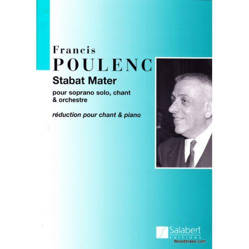 SALABERT POULENC F. - STABAT MATER - CHANT ET PIANO
