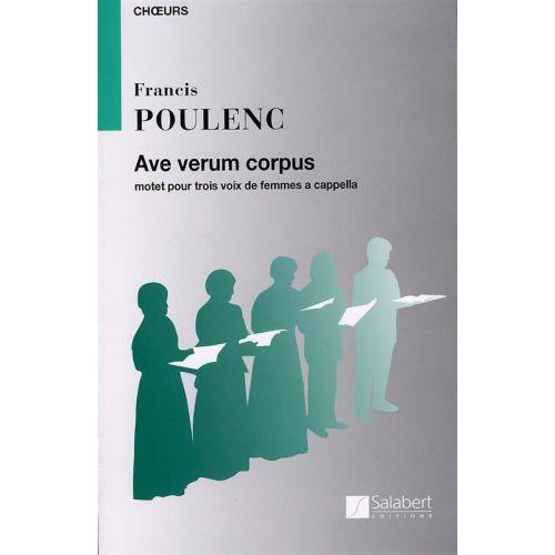 SALABERT POULENC F. - AVE VERUM CORPUS - CHOEUR