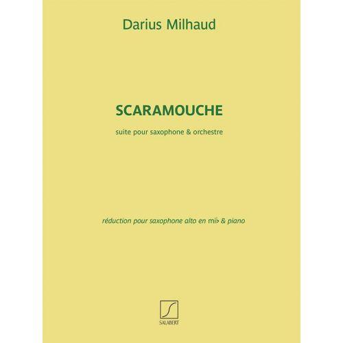 FENTONE MUSIC MILHAUD D. - SCARAMOUCHE - SAX ALTO ET PIANO