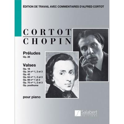 SALABERT CHOPIN F. - PRELUDES & VALSES (CORTOT)