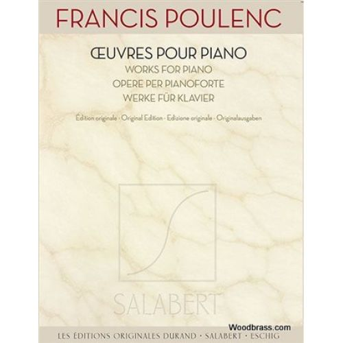 SALABERT POULENC F. - OEUVRES POUR PIANO