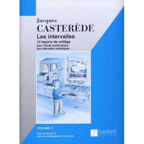 SALABERT CASTEREDE - LES INTERVALLES VOL.2, 2 CLES SANS PIANO