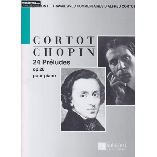 RICORDI CHOPIN F. - 24 PRELUDES OP. 28 (EDITION A. CORTOT) - PIANO