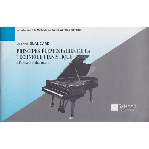 SALABERT BLANCARD PRINCIPES ELéMENTAIRES DE LA TECHNIQUE PIANISTIQUE