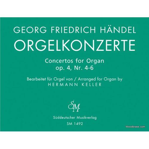 SÃœDDEUTSCHER MUSIKVERLAG HAENDEL G.F. - ORGELKONZERTE FUR ORGEL ALLEIN MIT PEDAL. HEFT 2 OP. 4 - ORGAN