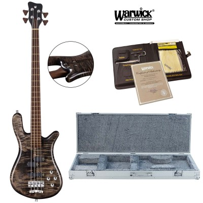 WARWICK BASS CUSTOM SHOP MASTERBUILT STREAMER LX NIRVANA BLACK OIL FINISH
