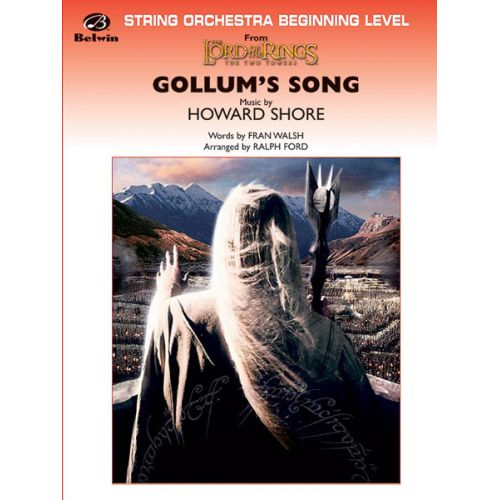 ALFRED PUBLISHING SHORE HOWARD - GOLLUM'S SONG LORD OF THE RINGS - STRING ORCHESTRA