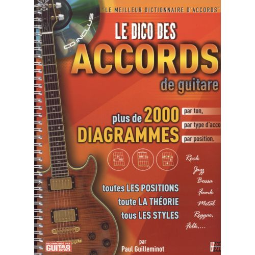 HIT DIFFUSION DICO DES 2000 ACCORDS DE GUITARE + CD