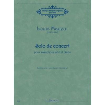SEMPRE PIU EDITIONS MAYEUR LOUIS - SOLO DE CONCERT - SAXOPHONE ALTO & PIANO