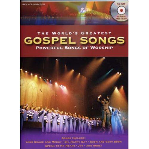 SHAWNEE PRESS WORLD'S GREATEST GOSPEL SONGS + CD-ROM - PVG