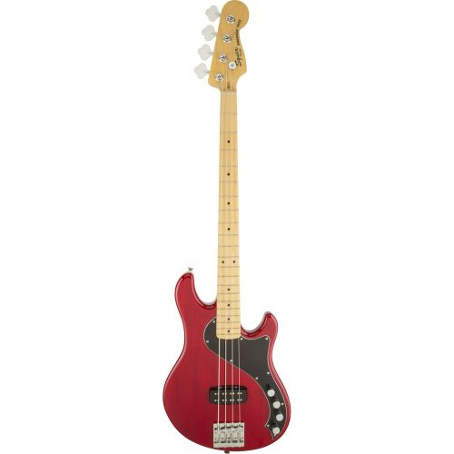 SQUIER BY FENDER DELUXE DIMENSION BASS IV MN CRIMSON RED TRANSPARENT