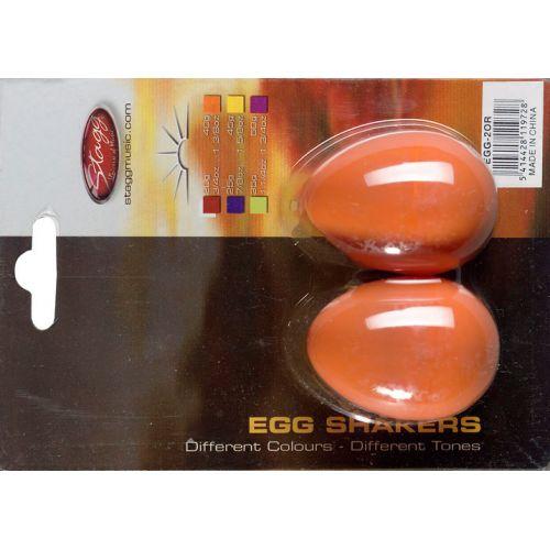 STAGG EGG-2 OR PAIR OF PLASTIC EGG SHAKER MAGENTA