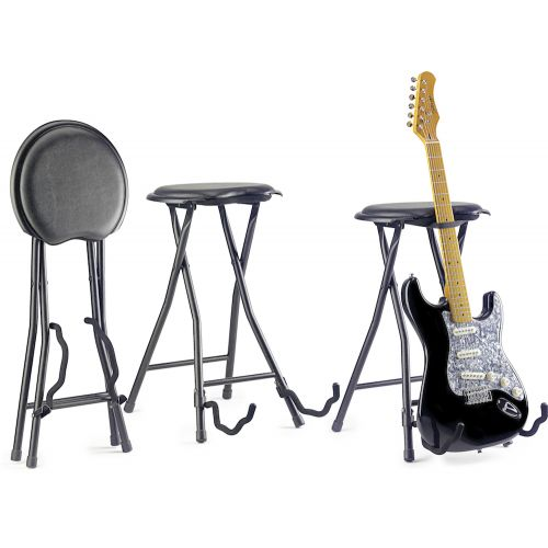 STAGG GIST-300 FOLDING BAR STOOL AND GUITAR STAND