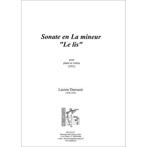 SYMETRIE DUROSOIR L. - SONATE EN LA MINEUR. LE LIS - VIOLON