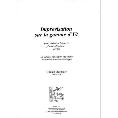 SYMETRIE DUROSOIR L. - IMPROVISATION SUR LA GAMME D'UT, POUR VIOLONISTE HABILE ET PIANISTE DÉBUTANT... - VIOL