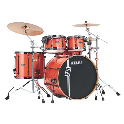 TAMA MK52HZBNS-BOS - SUPERSTAR HYPER-DRIVE MAPLE 5 FUTS OHNE HARDWARE - BRIGHT ORANGE SPARKLE