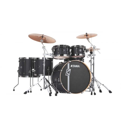 TAMA ML62HZBNS-FBK - SUPERSTAR HYPER-DRIVE MAPLE 6 FUTS OHNE HARDWARE - FLAT BLACK