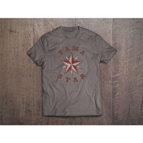 TAMA T-SHIRT STAR - GRIS - TAILLE L