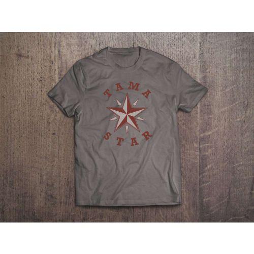 TAMA T-SHIRT STAR - GRIS - TAILLE XXL