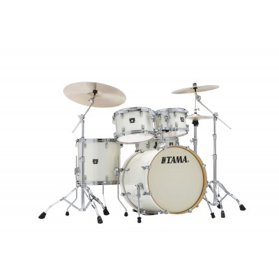 TAMA CK50RS-VWS - SUPERSTAR CLASSIC MAPLE (UNICOLOR WRAP) 20/10/12/14/14X5 VINTAGE WHITE SPARKLE