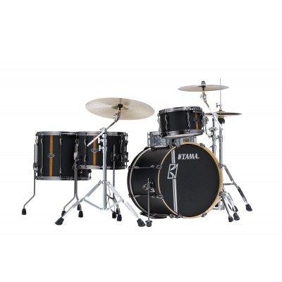 TAMA SUPERSTAR HYPER-DRIVE DUO 20/12/16/14 FLAT BLACK VERTICAL STRIPE ML40HZBN2-FBV