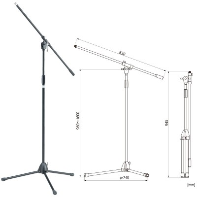 TAMA STRAIGHT MICROPHONE STAND (CHROME) MS205BK