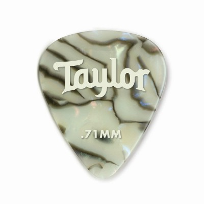 Taylor Celluloid 351 Picks White Pearl 0.71mm 12-Pack