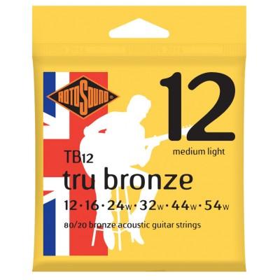 ROTOSOUND TRU BRONZE 80/20 BRONZE MEDIUM LIGHT 12 16 24 32 44 54
