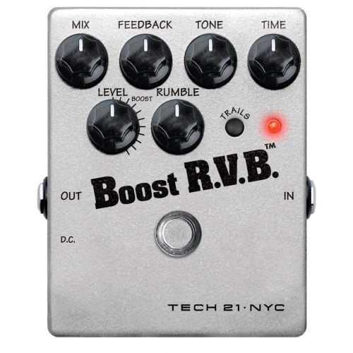TECH21 BOOST R.V.B. ANALOG REVERB WITH TRAILS