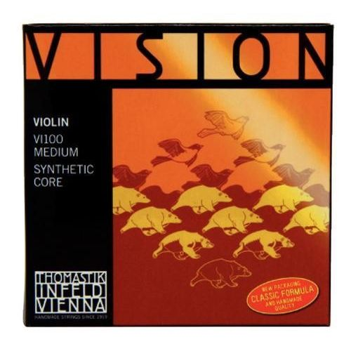 THOMASTIK 4/4 VISION VIOLIN SET MEDIUM TENSION VI100