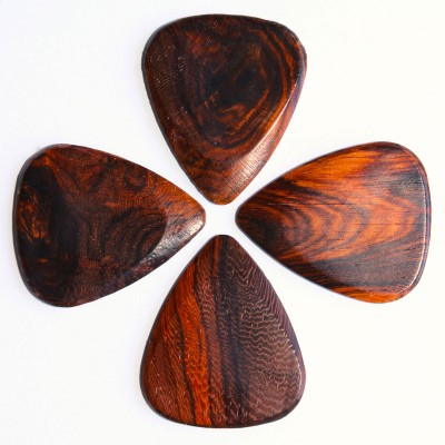 TIMBER TONES 4 BURMA PADAUK GUITAR PICKS