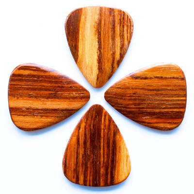 TIMBER TONES 4 PALE MOON EBONY GUITAR PICKS