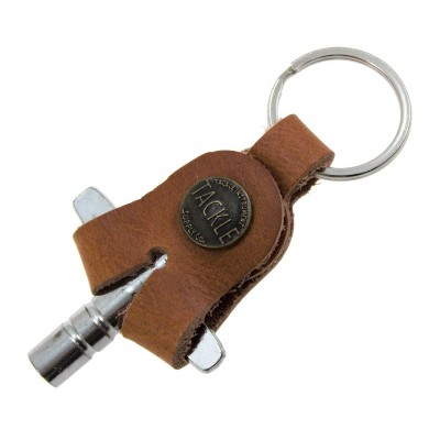 TACKLE INSTRUMENTS LEATHER DRUM KEY - SADDLE TAN
