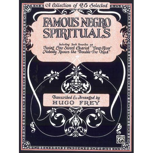 ALFRED PUBLISHING FAMOUS NEGRO SPIRITUALS - PVG