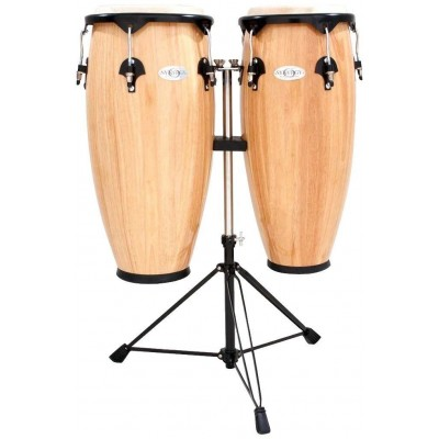 TOCA SERIES WOOD CONGA SET WITH STAND 10'' AND 11'' DOUBLE STAND NATURAL GLOSS 2300N