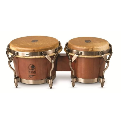 TOCA WOOD BONGOS TRADITIONAL SERIES DARK WALNUT 7'' AND 8 1/2'' 3900D