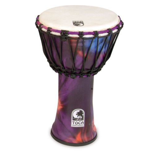 TOCA FREESTYLE ROPE TUNED 12'' DJEMBE DJEMBE FREESTYLE 12'' PURPLE SFDJ-12WP