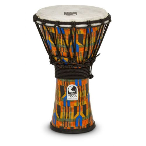 TOCA DJEMBE FREESTYLE 9'' KENTE CLOTH SFDJ-9K