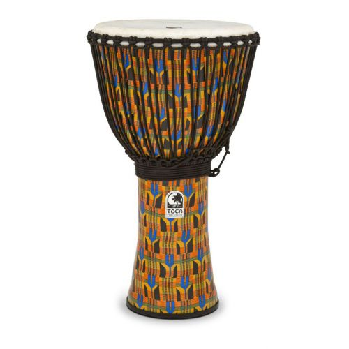 TOCA DJEMBE FREESTYLE 14'' WITH BAG KENTE CLOTH SFDJ-14KB