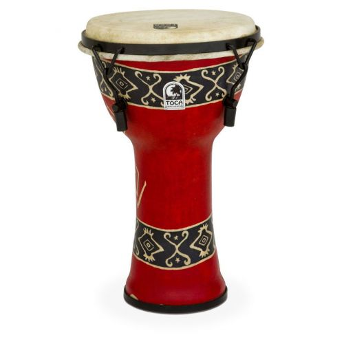 TOCA DJEMBE FREESTYLE MECHANICAL TUNED BALI RED 9'' - SFDMX-9RP