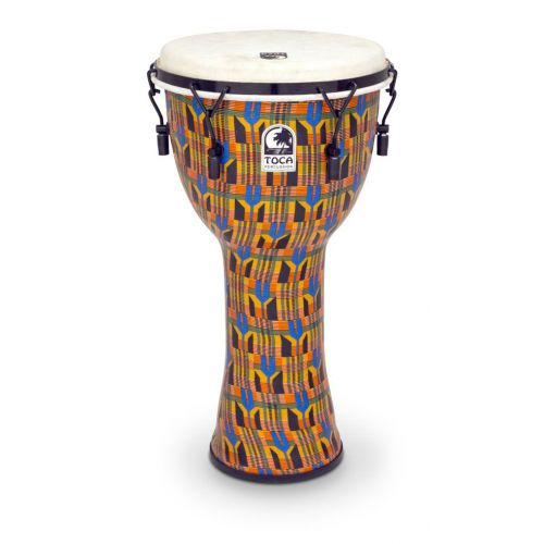TOCA DJEMBE FREESTYLE MECHANICALTUNED KENTE CLOTH 9'' SFDMX-9K